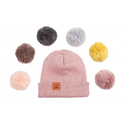 Winter Beanie PomPom Rouge