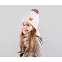 Winter Beanie PomPom Powder Pink
